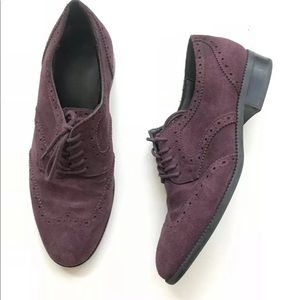 Marc Fisher Katie man suede oxford lace up shoes